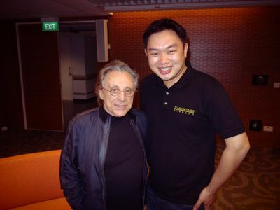 Dale with the legendary singer/songwriter Franki Valli