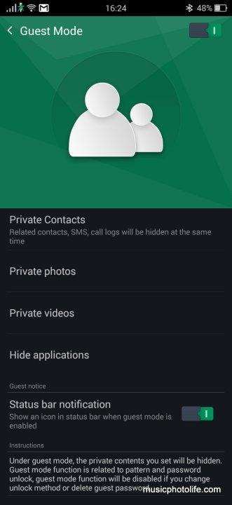OPPO R7 screenshot Guest Mode