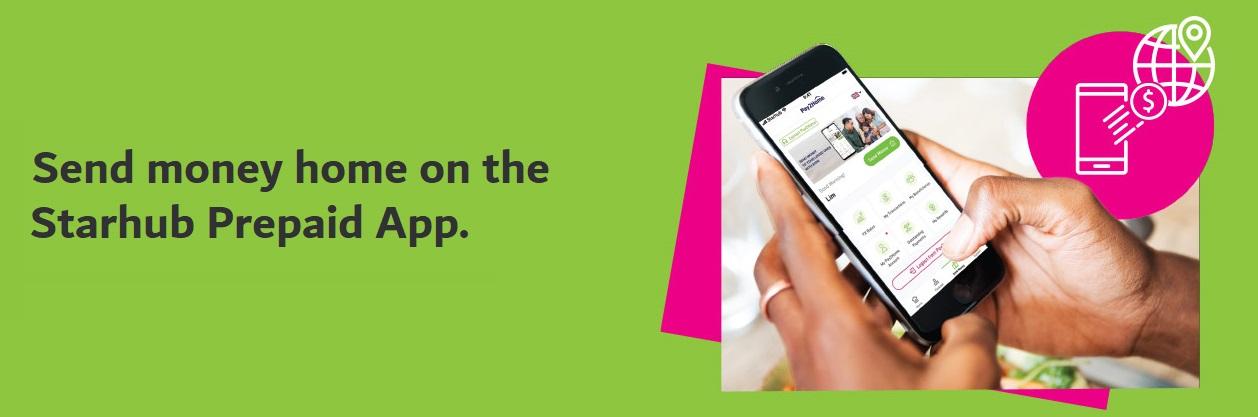 How to send money home on the StarHub Prepaid App?