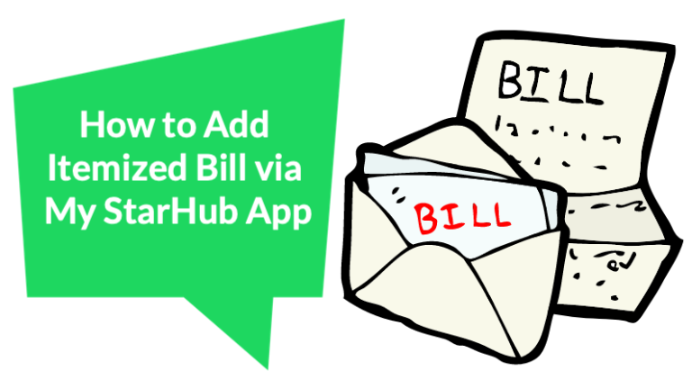 How to add Itemized Bill to your StarHub mobile service?