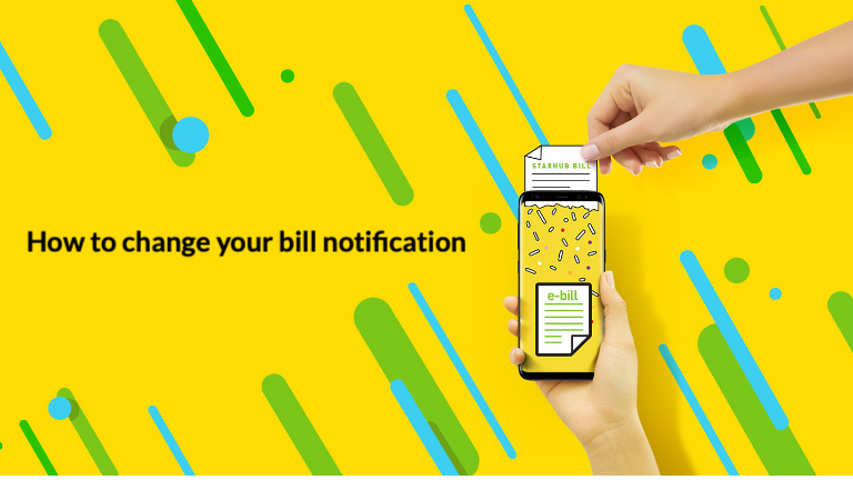 How to change your bill notification on My StarHub App?