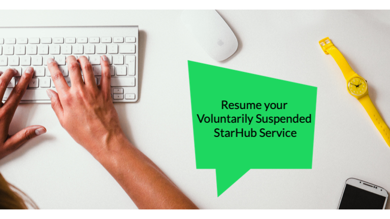 How to Resume Your Voluntarily Suspended StarHub Services via My Account?