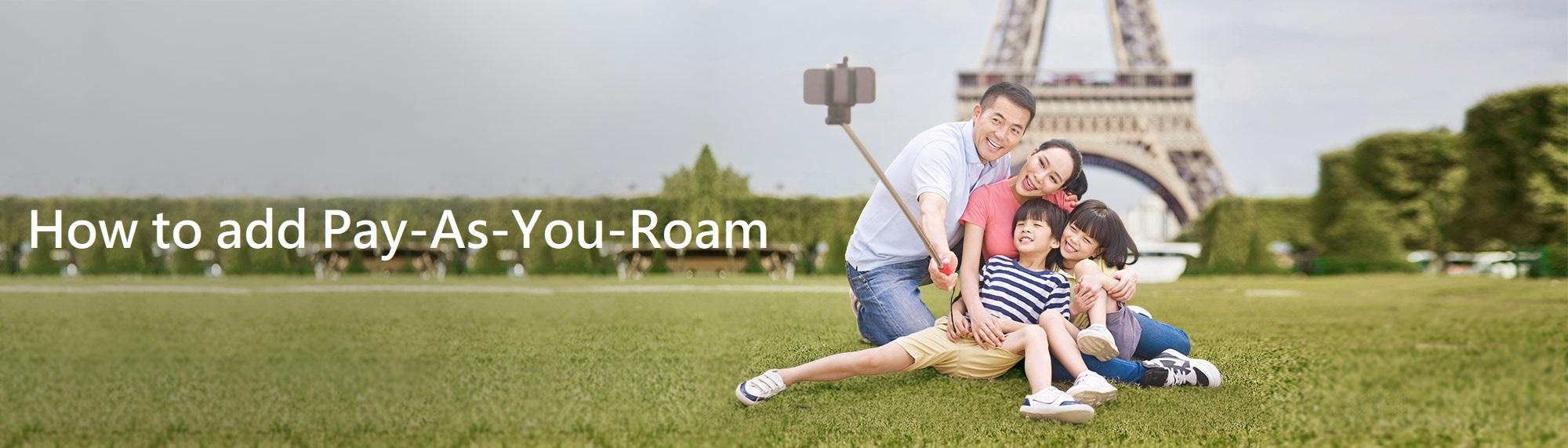 How to add Pay-As-You-Roam via My StarHub App?