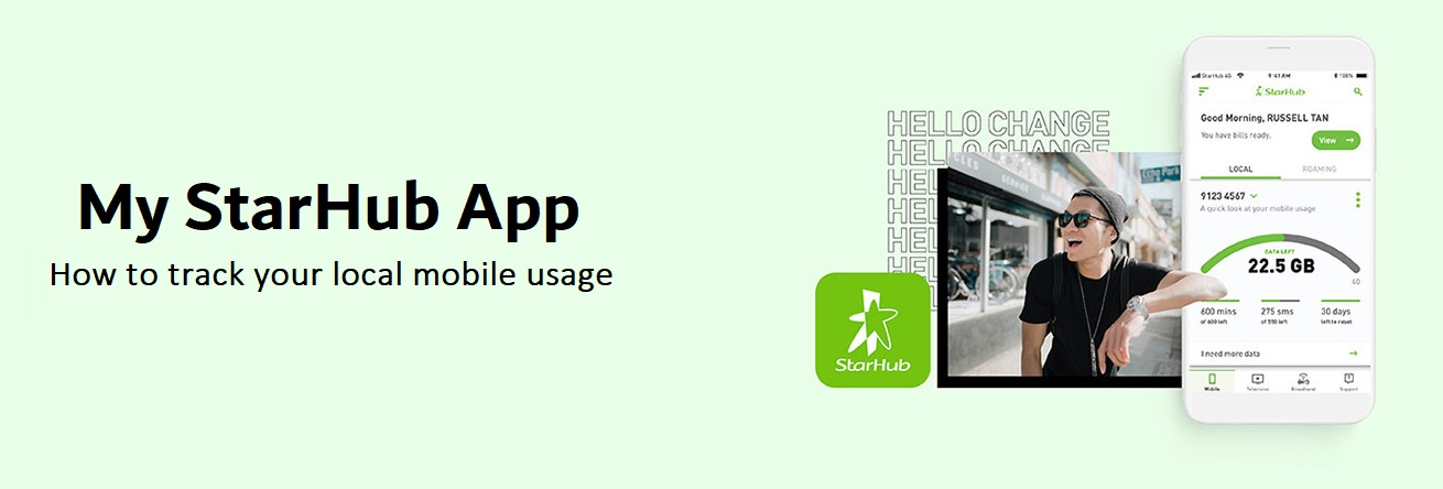 How to track your local mobile usage via My StarHub App?