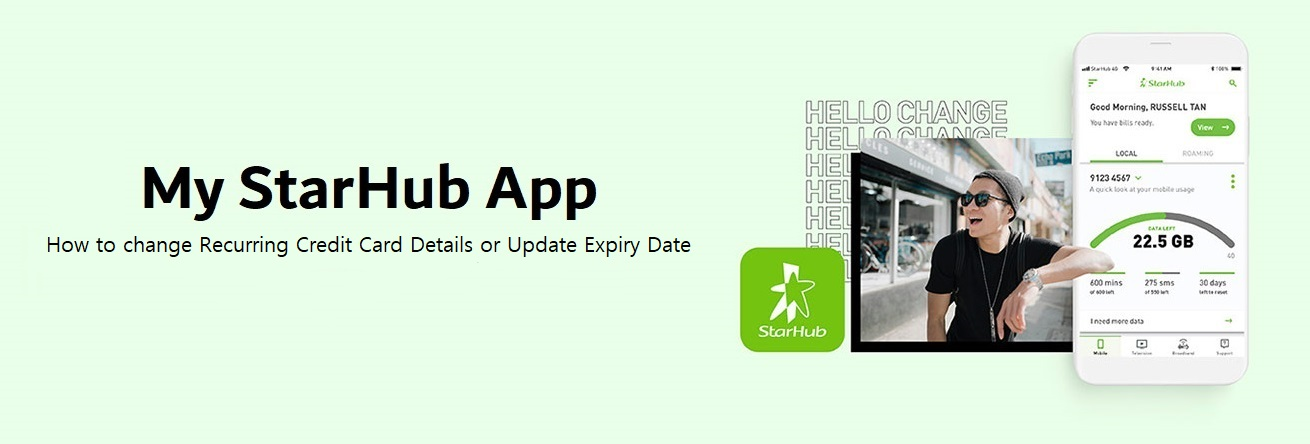 How to change Recurring Credit Card Details or Update Expiry Date via My  StarHub App?