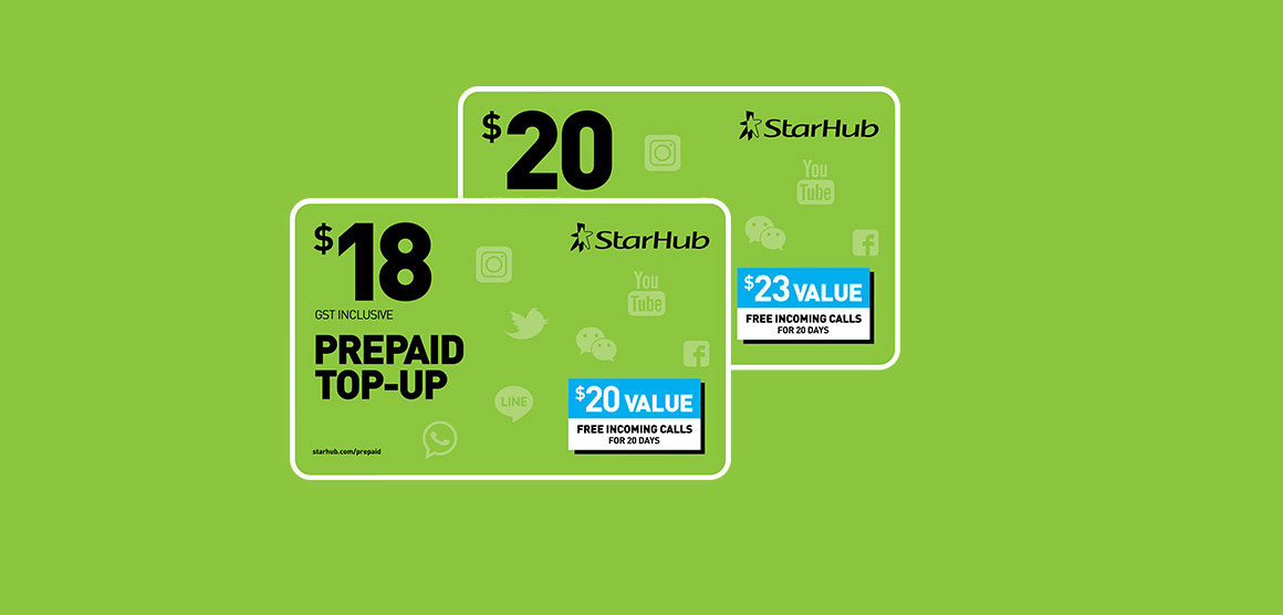 What's the top-up you need for your StarHub Prepaid SIM Card?