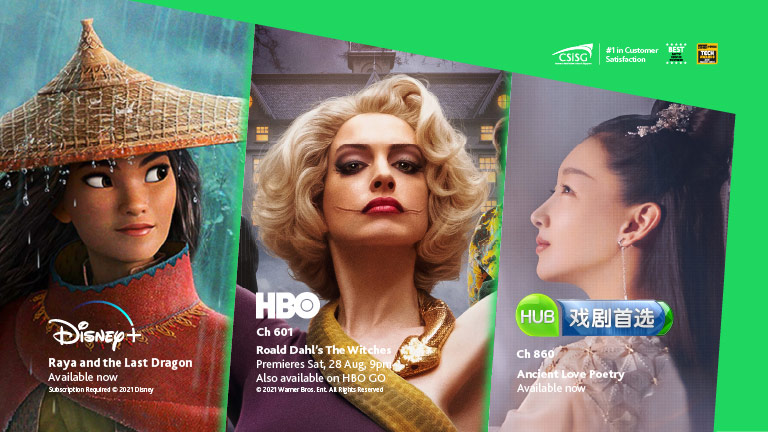 Enjoy these shows on Disney+ and HBO Pak at no extra cost!